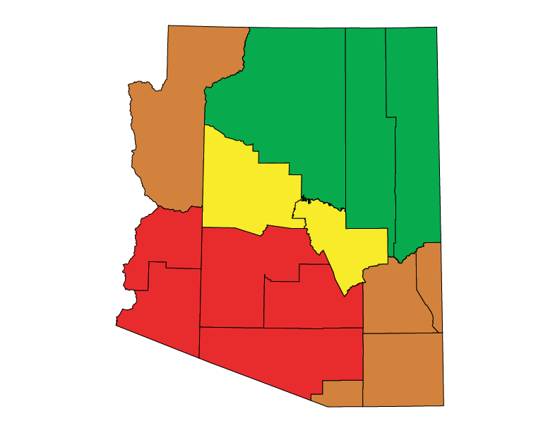 Arizona climate zones