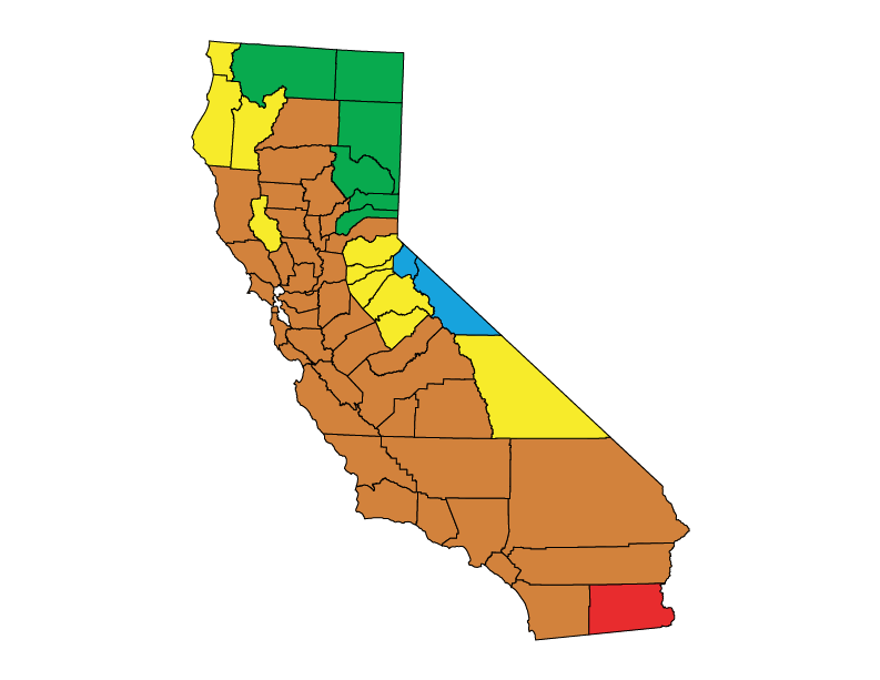California climate zones