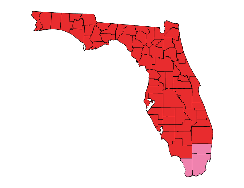 Florida climate zones