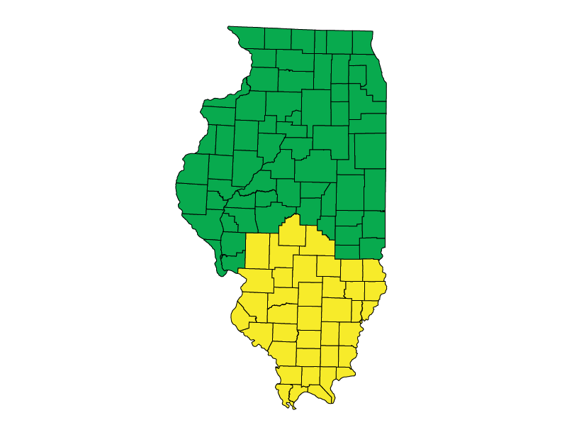 Illinois climate zones