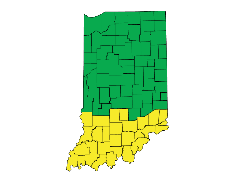 Indiana climate zones