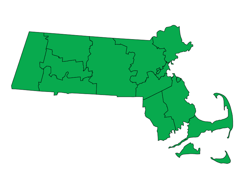 Massachusetts climate zones