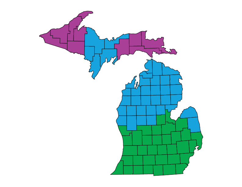 Michigan climate zones