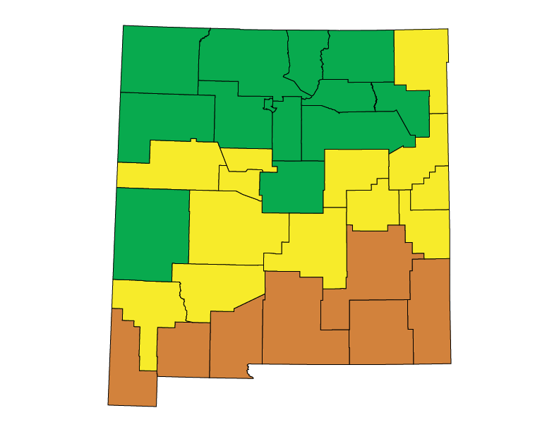 New Mexico climate zones
