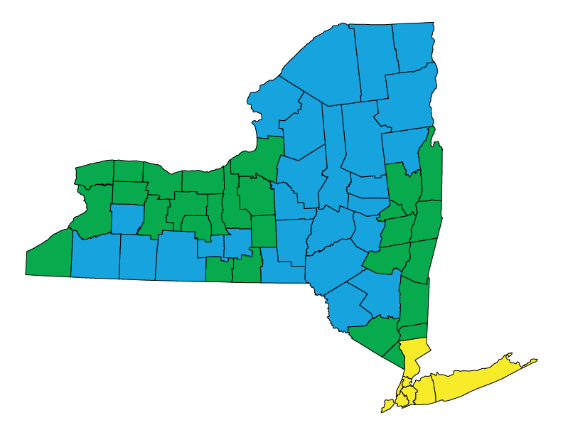 State Code Status New York The Building Codes Assistance Project - Ashrae climate zone map