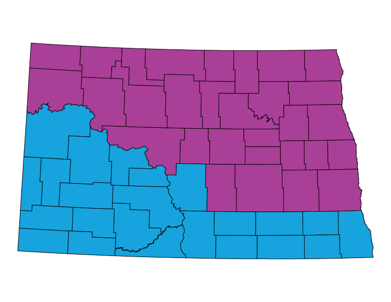 North Dakota climate zones
