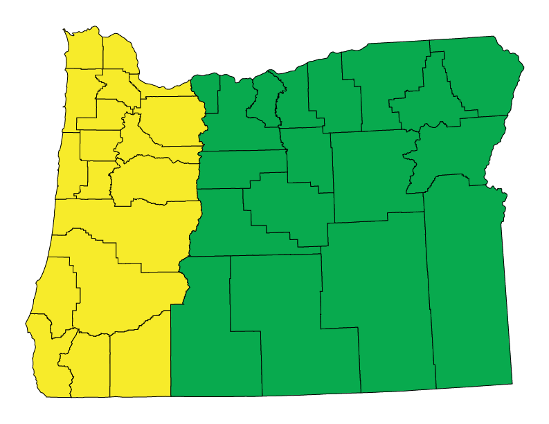 Oregon climate zones