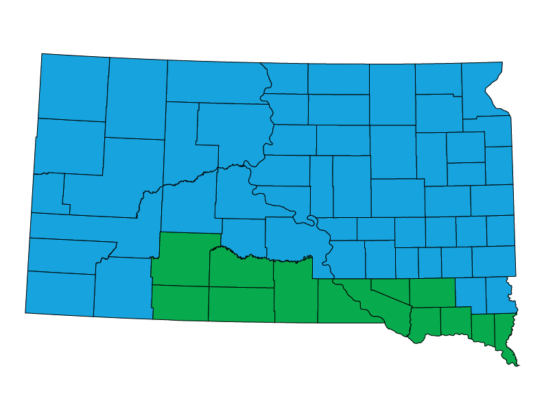 South Dakota climate zones