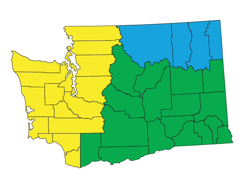 Washington climate zones