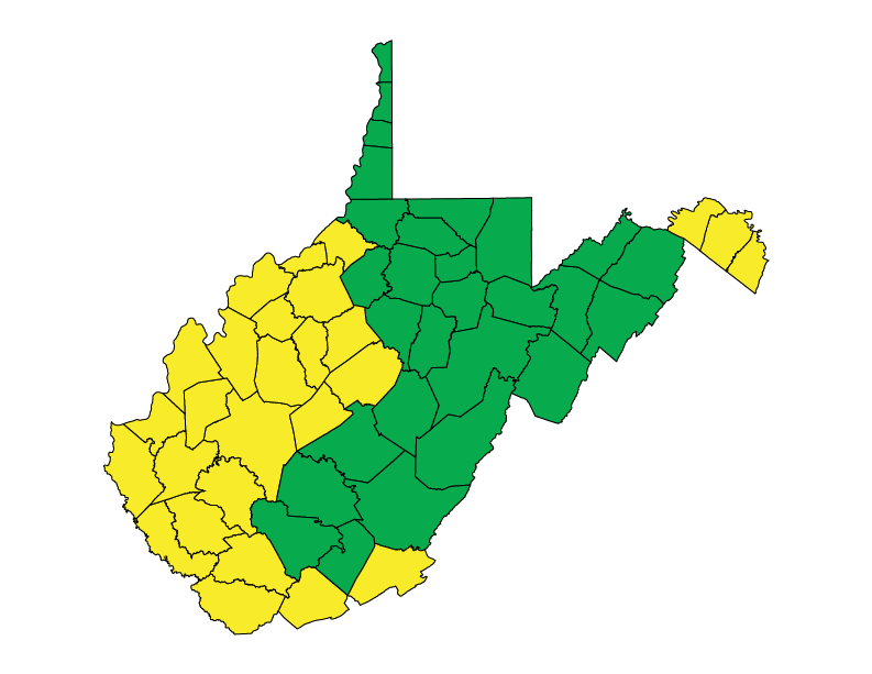 West Virginia climate zones