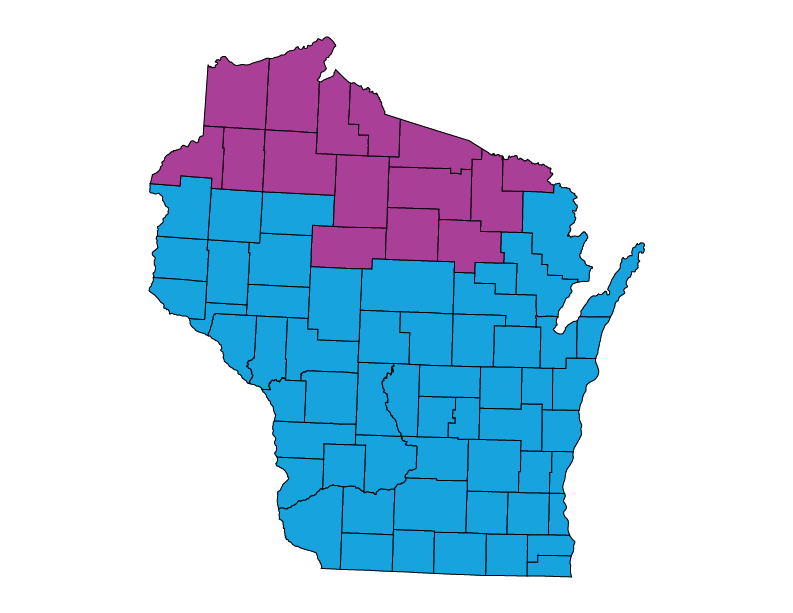 Wisconsin climate zones