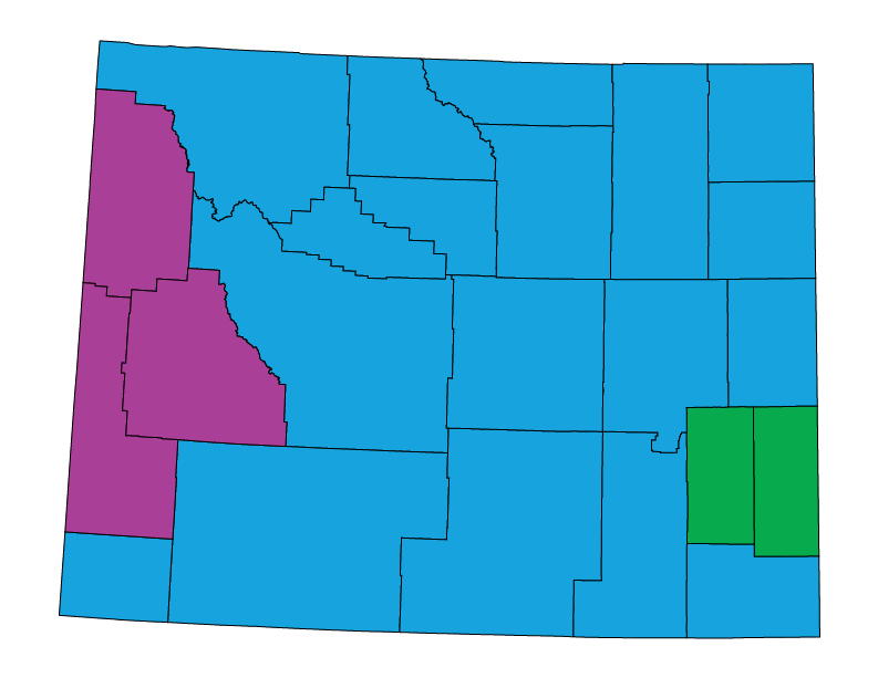 Wyoming climate zones
