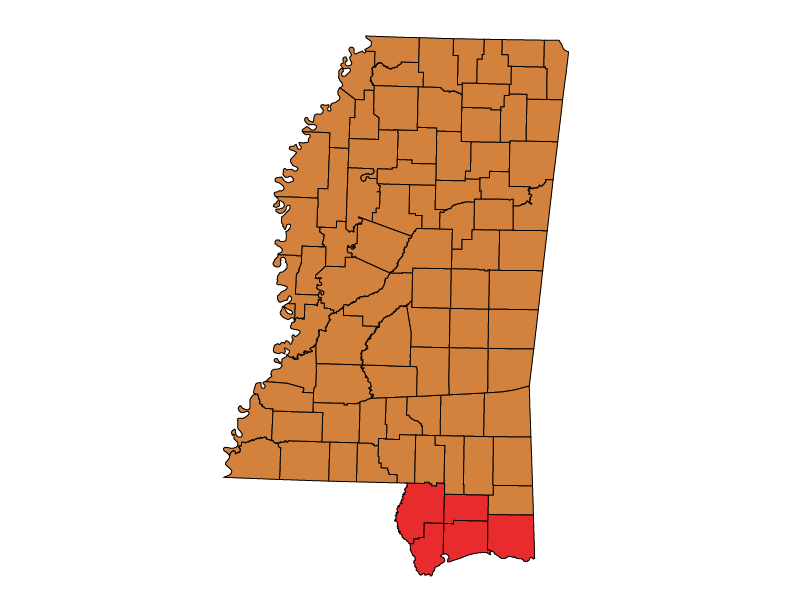 Mississippi climate zones
