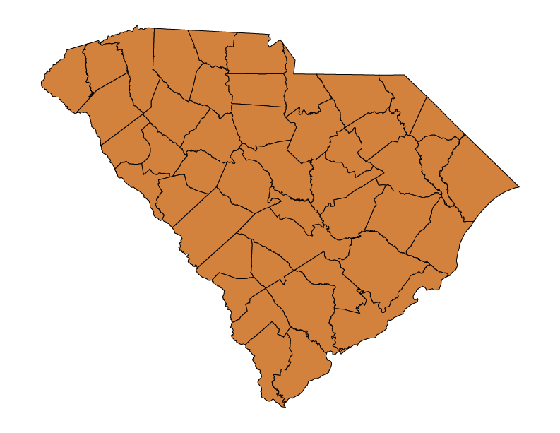 South Carolina climate zones