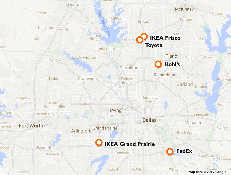 IKEA Blazes Solar Trail In TX The Building Codes Assistance Project - Ikea us map